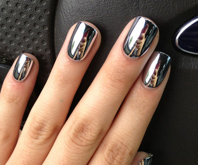 The latest trend…. Chrome Nails!